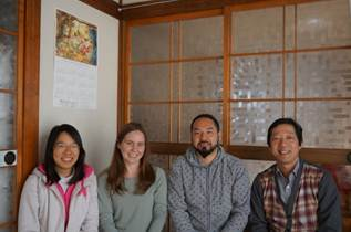 Michelle (left) with the Miyako Base team